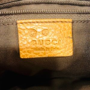 Auth GUCCI shoulder bag Tan LEATHER